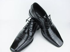 Stacy Adams Shoe Black Patent Leather Lace Up Square Toe Pointy Toe Size 8 Medium Wedding Shoe Dress Shoe Executive Shoe by PortalsMagicCloset on Etsy