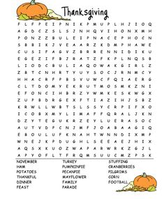 Thanksgiving Word Search - Best Coloring Pages For Kids