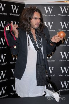 """Russell Brand signs copies of his new book """"My Booky Wook"""" at Waterstones, Bluewater, Greenhithe, Kent Russell Brand, New Books, Photo Galleries, Signs, Shop Signs, Sign"""