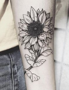 Full Black and White Realistic Vintage Floral Sunflower Wrist Arm Tattoo Ideas at MyBodiArt.com