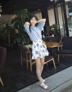 Dress Up Confidence! 66girls.us Flared Floral Mini Skirt (DIGD) #66girls #kstyle #kfashion #koreanfashion #girlsfashion #teenagegirls #younggirlsfashion #fashionablegirls #dailyoutfit #trendylook #globalshopping