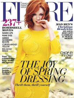 Christina Hendricks' flare cover