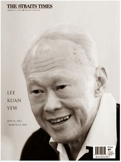 Strait Times Special Edition Lee Kuan Yew