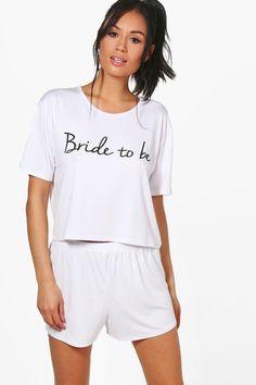 boohoo Martha Bride To Be T-Shirt + Short Set Bachelorette Outfits, Bachelorette Weekend, Bride Shirts, Before Wedding, Sleepwear Women, Ladies Nightwear, Fashion Face Mask, Looking For Women, Pajama Set