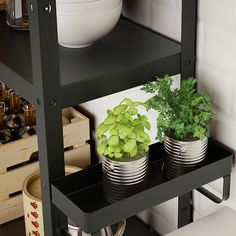IKEA - BROR, Add-on shelf, black, Easy to attach and remove. Transforms an unused area into a practical storage space for the small things you want to have close at hand. Only for indoor use. Concrete Bags, Decor Around Tv, Dish Detergent, Hobby Room, Small Shelves, Floating Shelves, Galvanized Steel, Paint Cans, Industrial Furniture