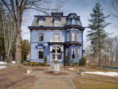 1872 East Hampton, CT historical Bevin House is a French Empire-style mansion.