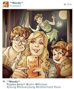 Wendy si usase Instagram #PeterPan