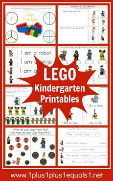 Lego Kindergarten Printable Pack {free} really cool learning with Lago and Lago people. Lego Kindergarten, Lego Math, Kindergarten Worksheets, Maths, Daily 5, Legos, Homeschool Math, Homeschooling Resources, Free Lego