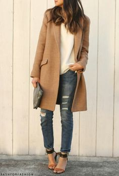 Camel coat- wardrobe staple