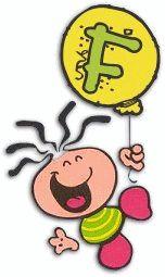 Alfabeto bubblegum con globo amarillo.