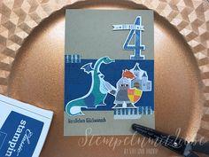 Stampin Up - Karte - Card - Besonderes Designerpapier Märchenzauber - Jeansblau - Produktpaket Zauberhafter Tag - Stempelset So viele Jahre - Framelits Große Zahlen♥ StempelnmitLiebe
