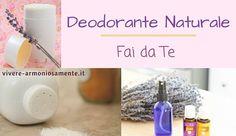 Come fare un deodorante naturale fai da te per ascelle molto efficace contro il sudore! Il deodorante fatto in casa è senza parabeni, con bicarbonato, amido