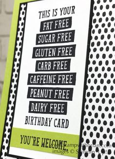 Birthday Wit, Stampin' Up!, Brian King, funny birthday card
