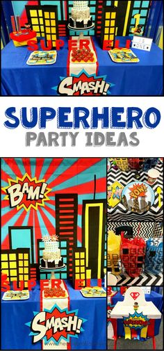 Superhero Party Ideas for a First Birthday Party