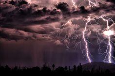 Beautiful lightning
