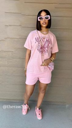Swag Outfits For Girls, Cute Swag Outfits, Cute Comfy Outfits, Chill Outfits, Dope Outfits, Pretty Outfits, Black Girl Fashion, Tomboy Fashion, Teen Fashion Outfits