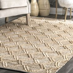 Bungalow Rose Robichaud Handwoven Flatweave Beige Area Rug Rug Size: Rectangle x Biscuit, Light Blue Area Rug, Rugs Usa, Jute Rug, Natural Rug, Round Rugs, Outdoor Area Rugs, Rugs In Living Room, Beige Area Rugs