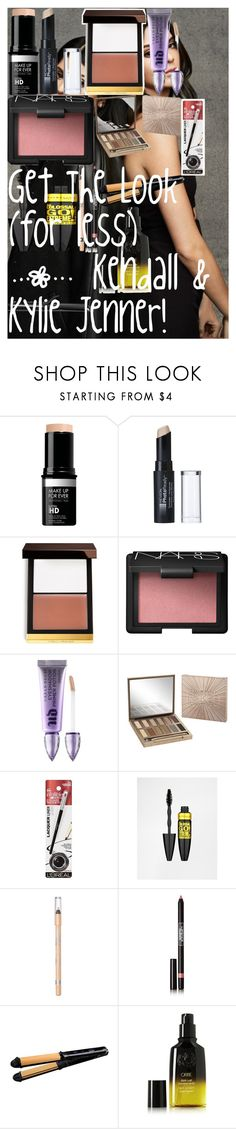 """""""Get The Look (for less)   Kendall & Kylie Jenner!"""" by oroartye-1 on Polyvore featuring beauty, Kendall + Kylie, MAKE UP FOR EVER, Revlon, Tom Ford, NARS Cosmetics, Urban Decay, L'Oréal Paris, Maybelline and Rimmel"""