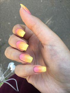 Summer ombre nails