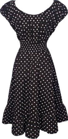 Amazon.com: Polkadot Peasant Sundress Rockabilly: Clothing