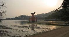 Otorii Gate in Miyajima, Japan.  Travel guide @ http://www.cheapojapan.com/miyajima/ #travel #japan #holiday #temple #shrine