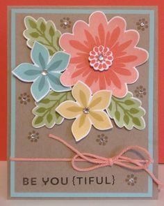 Cute!  Stampin Up Be You {Tiful} Flower Patch by Catherine Loves Stamps