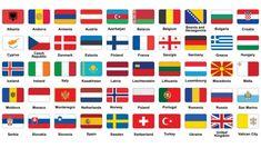 Bandeiras europeias — Ilustração de Stock Montenegro, Albania, Bulgaria, Iptv Sports, Flag Of Europe, European Flags, Flags Of The World, Bosnia, Luxembourg