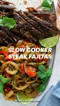 Slow Cooker Steak, Slow Cooker Recipes, Crockpot Recipes, Cooking Recipes, Healthy Chicken Recipes, Pasta Recipes, Mexican Food Recipes, Steak Fajitas, Gold Rate