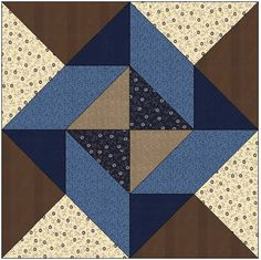 Around the Block Quilt Block Pattern Download