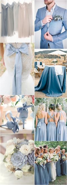 for Lizzy Wedding Colors » 2017 Wedding Inspiration: Dusty Blue Wedding Color Ideas » ❤️ More: http://www.weddinginclude.com/2017/08/wedding-inspiration-dusty-blue-wedding-color-ideas/