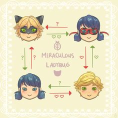 Miraculous Ladybug: The love square. Get it? <<< The only show where a love square can consist of two people