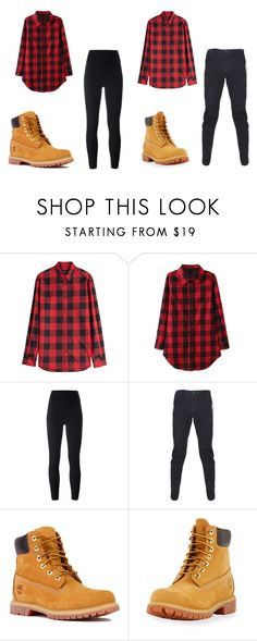 """""""matching outfits for a couple or a dance group"""" by asiacrawford2017 on Polyvore featuring Dsquared2, Yeezy by Kanye West, Maharishi and Timberland"""
