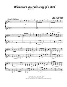 My Heavenly Father Loves Me/Whenever I Hear the Song of a Bird (by Linda Pratt -- Piano, Piano Solo) Lds Music, Music Love, Free Sheet Music, Piano Sheet Music, Piano Lessons, Music Lessons, Primary Songs, Primary Lessons, Lds Hymns