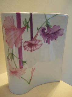 300 USD petunia vase painting on porcelain by Olivia Guez