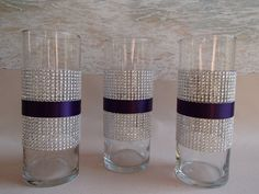 This Bling Vase is made with silver diamond mesh and the ribbon color(s) of your choice. It can be made with diamond mesh centered, on the top or