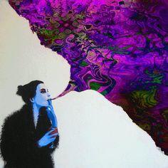 Psychedelic Art, Gifs, Tumblr, Acid Trip, Love Art, Fantasy Art, Illustration Art, Anime, Sketches