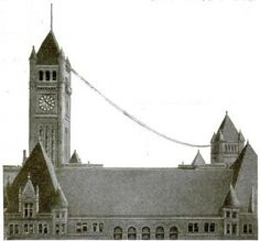 Minneapolis City Hall, 1915, with MN Wireless Assn. Antenna shown.