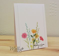 Mellymoo papercrafting: Peaceful Wildflowers