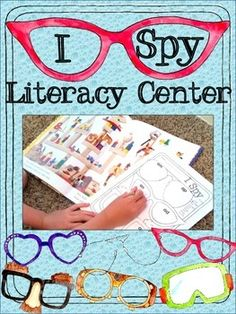 I Spy Literacy Center ($) - Kids look through the pictures of I Spy books and record objects that fit word families and phonics patterns on fun glasses-themed recording pages, 12 different pages included so you can use the center several times throughout the year