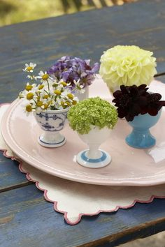 Sweet Paul's precious eggcup flower arrangements from Country Living in 2008.
