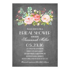 Rose Garden Chalkboard | Bridal Shower Card