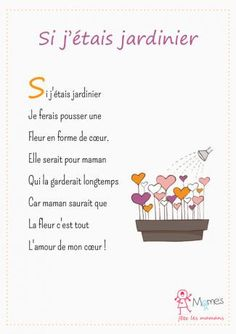 Si-j-etais-jardinier. Cadeau Parents, Activities For Kids, Crafts For Kids, Teacher Boards, Hallmark Cards, Mothers Day Crafts, Kids Songs, Mother And Father, Learn French