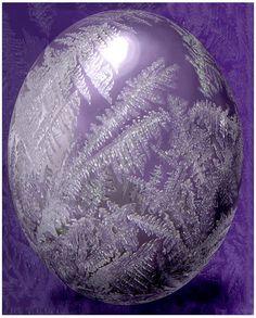 Purple Glass Egg