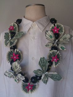 Money Lei real dollar  Graduation lei by etopmall on Etsy, $55.00