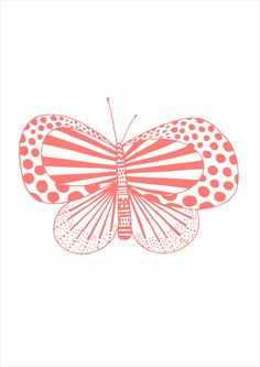 Autumn butterfly Studio Sjoesjoe, drawing, moth, butterfly, illustration, design, peach