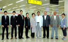 재일본조선인체육련합회대표단 도착