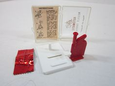Vintage Automatic Needle Threader Complete by DiverseCollectibles #vintage #sewing #etsy