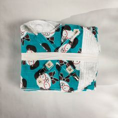 New Baby Gift, Shower Gift, Gift Set, Burp Cloths, Bibs, Baprons, Blanket, Soft Flannel & Chenille, Dog, Puppies, Blue by liltommysadventures on Etsy