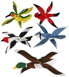 Set Of Five Mini Whirligigs Plan This plan has patterns for all 5 birds! Make them all for yourself or give them to friends! A fun project that anyone can accomplish! Set Of Five Mini Whirligigs Speci