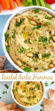 If you are looking for a simple appetizer that is packed with flavor this roasted garlic hummus is for you! If you are looking for a simple appetizer that is packed with flavor this roasted garlic hummus is for you! Best Appetizer Recipes, Best Appetizers, Simple Appetizers, Appetizer Ideas, Delicious Appetizers, Party Recipes, Dip Recipes, Potato Recipes, Vegetable Recipes